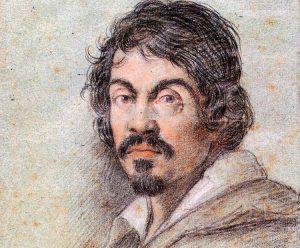 Chalk portrait of Caravaggio by Ottavio Leoni, circa 1621