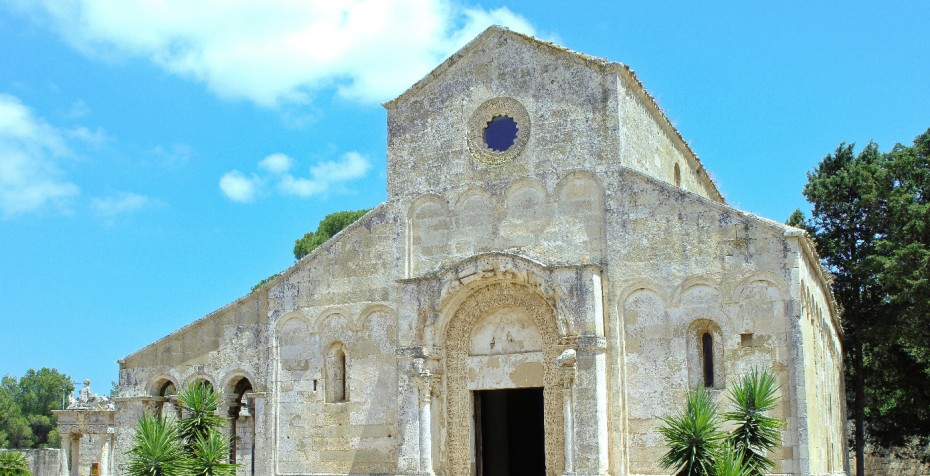 Abbey of Santa Maria di Cerrate (Lecce), one of the most significant examples of Romanesque architecture in Puglia; the property is currently under restoration, and open to the public on limited days/hours. Photo credit: Francesco Franciosi © FAI - Fondo Ambiente Italiano