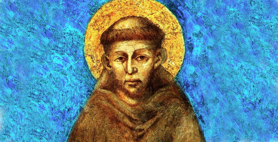 Saint Francis by Cimabue (Assisi1285-1288)