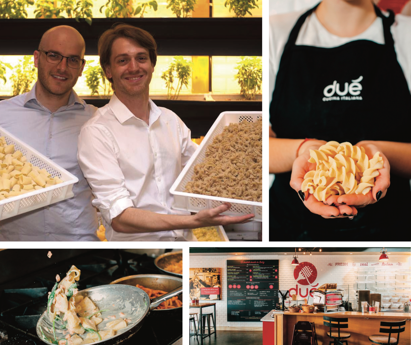 Science, art and friendship merge in Dué Cucina Italiana