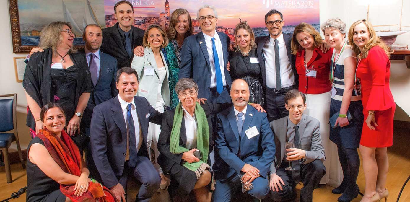 The Staff of the Italian Consulate joined Consul General, Lorenzo Ortona, and his wife Sheila for a group photo. Ph Credits Emanuela Quaglia