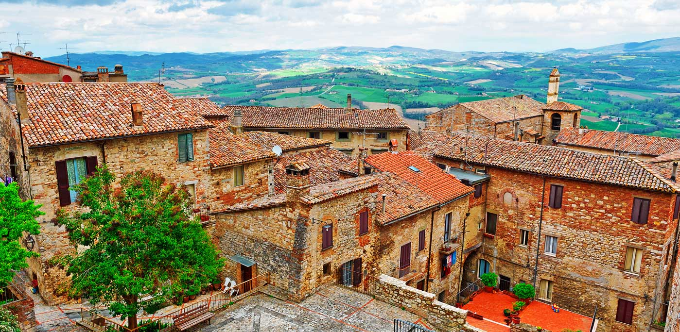 A view of Todi, known as the birthplace of Fra' Jacopone da Todi, the Franciscan friar and mystic who also was one of the most important Medieval Italian poets. Photo: ggkuna